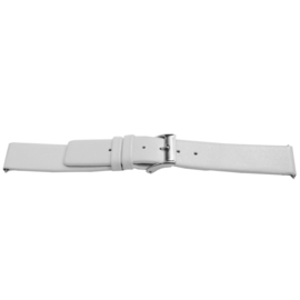 Horlogeband Universeel C510 Leder Wit 12mm-LK111