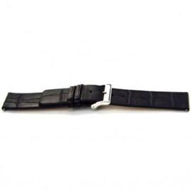 Horlogeband Universeel I145 Leder Zwart 24mm-K285