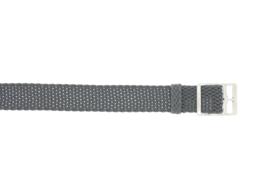 Perlon band 12mm grijs NR.4