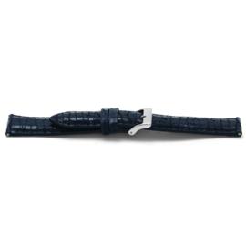 Horlogeband Universeel C604 Leder Blauw 12mm-K35