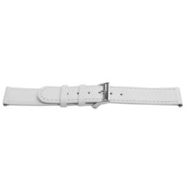 Horlogeband Universeel C500 Leder Wit 12mm-LK108