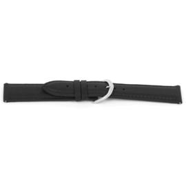 Horlogeband Universeel C144 Leder Zwart 12mm-K17