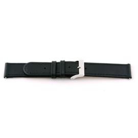 Horlogeband Universeel C100 Leder Zwart 12mm