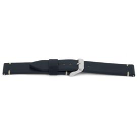 Horlogeband Universeel F640 Leder Blauw 18mm-K183