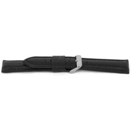 Horlogeband Universeel H017-XL Leder Zwart 22mm-KXL37