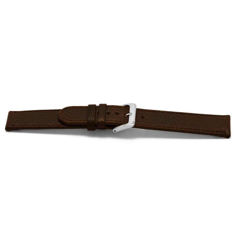 Horlogeband Universeel I400Z Leder Bruin 24mm-K298