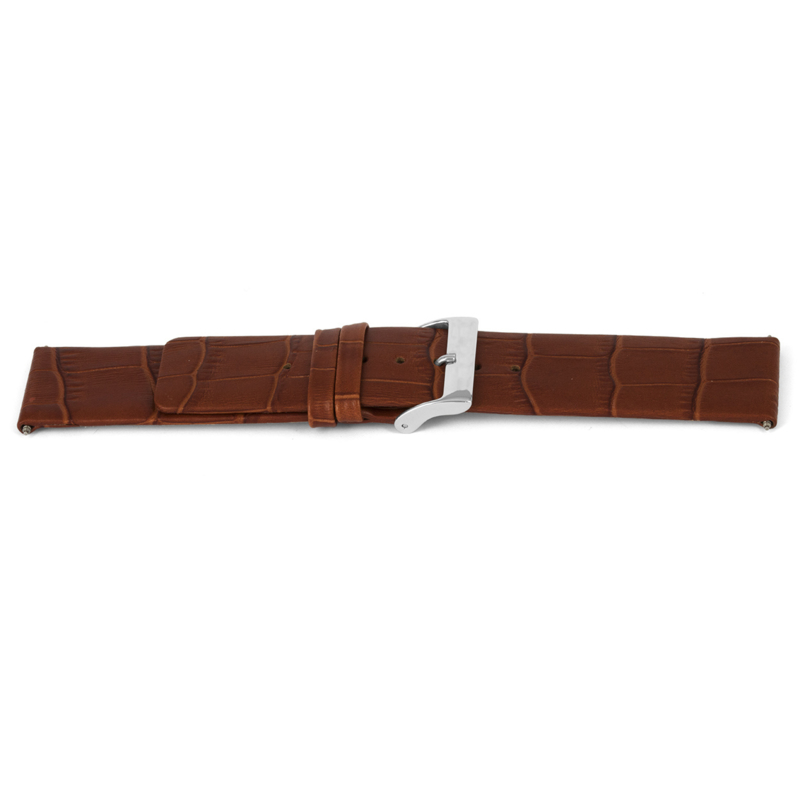 Horlogeband Universeel I345 Leder Cognac 24mm-K293