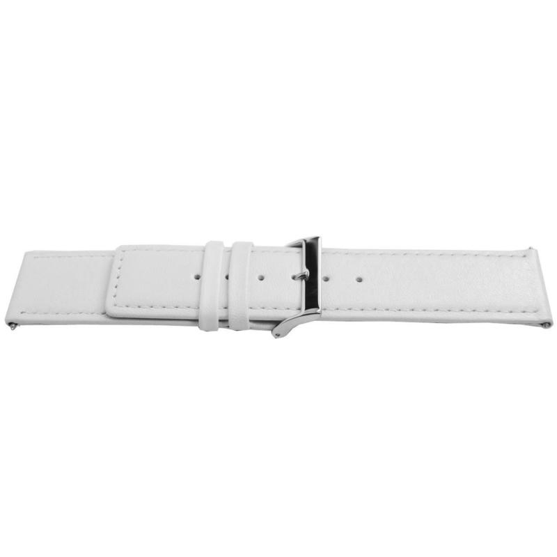 Horlogeband Universeel I505 Leder Wit 24mm-K303