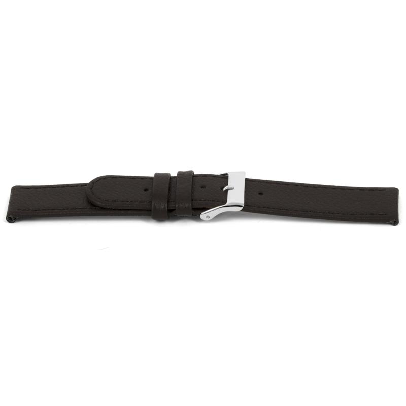 Horlogeband Universeel H400 Leder Bruin 22mm-K261