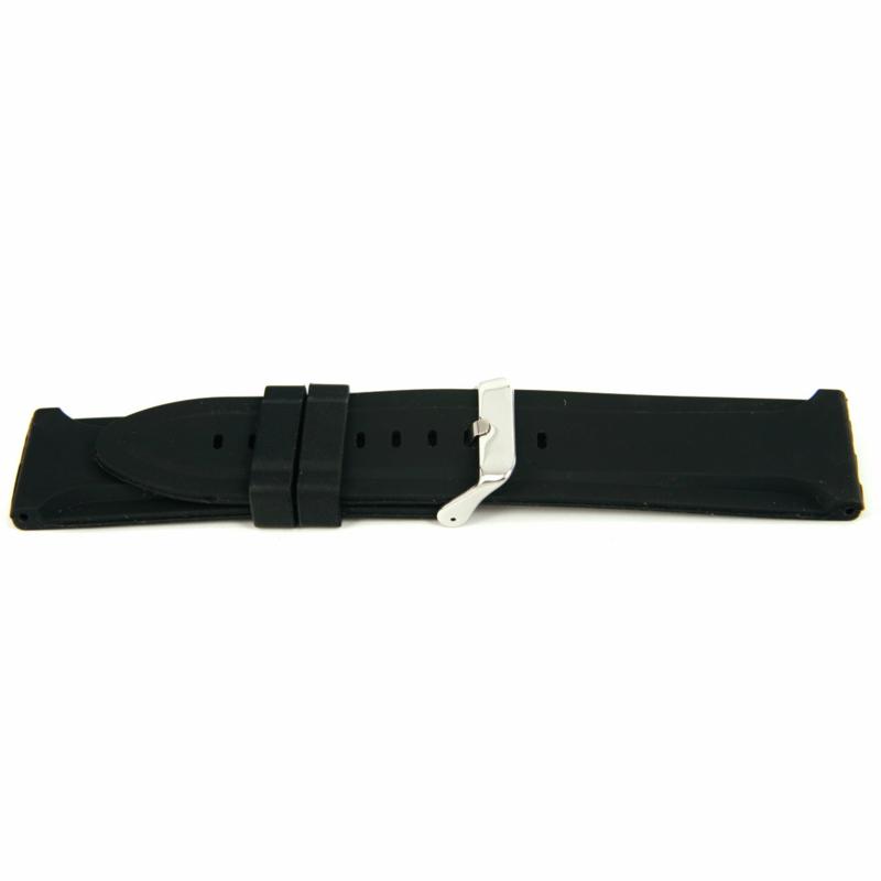 Horlogeband Universeel XJ15 Silicoon Zwart 26mm-KR19