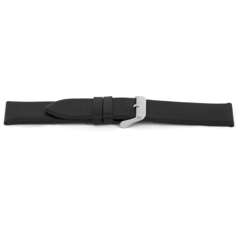 Horlogeband Universeel I147 Leder Zwart 24mm-K287