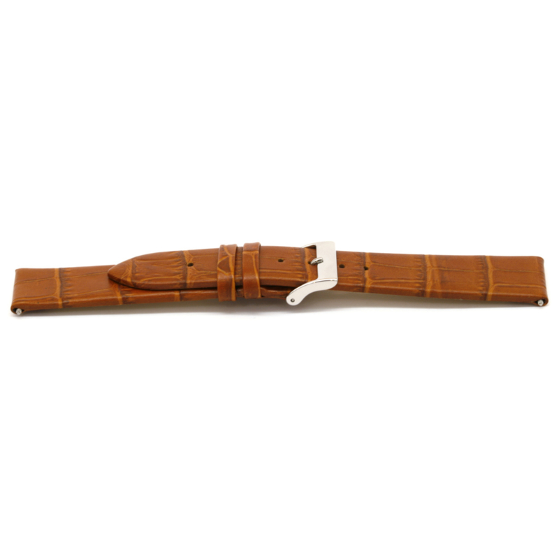 Horlogeband Universeel H303 Leder Cognac 22mm-K250