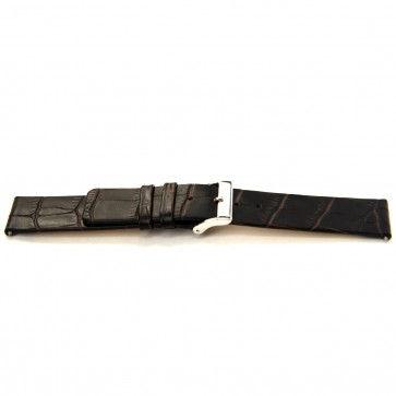 Horlogeband Universeel I350 Leder Bruin 24mm-K294