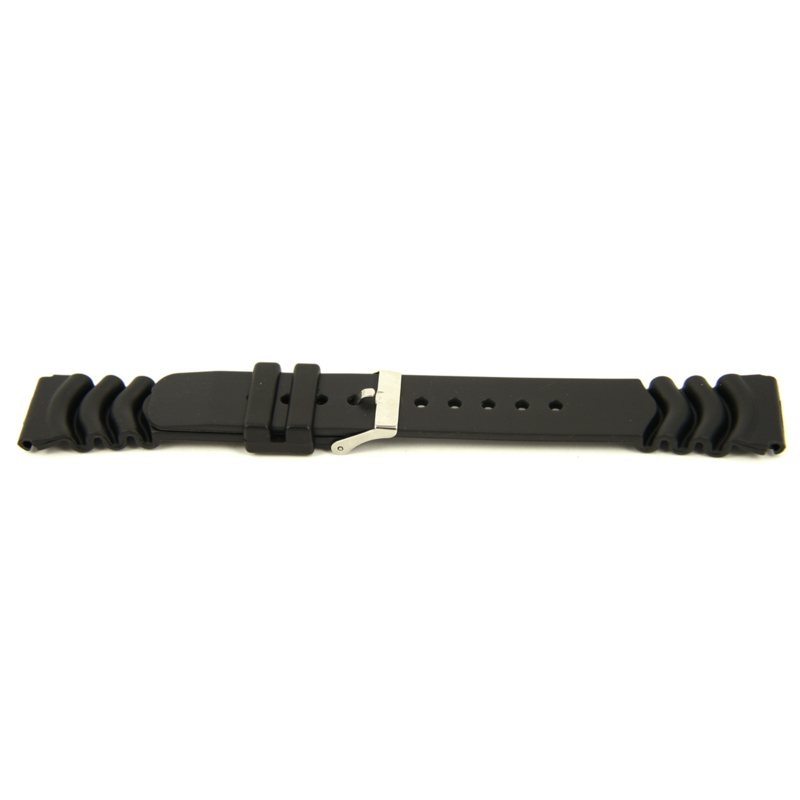 Horlogeband Universeel XH11 Rubber Zwart 22mm-KR10