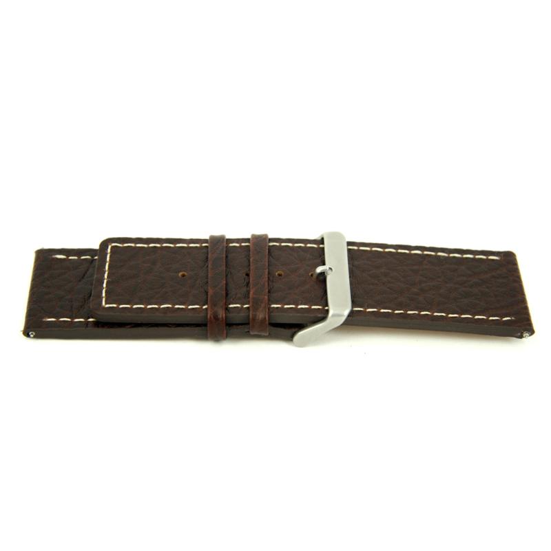 Horlogeband Universeel L320 Leder Bruin 30mm-K334