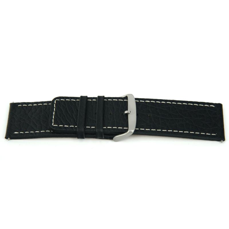 Horlogeband Universeel J125 Leder Zwart 26mm-K310