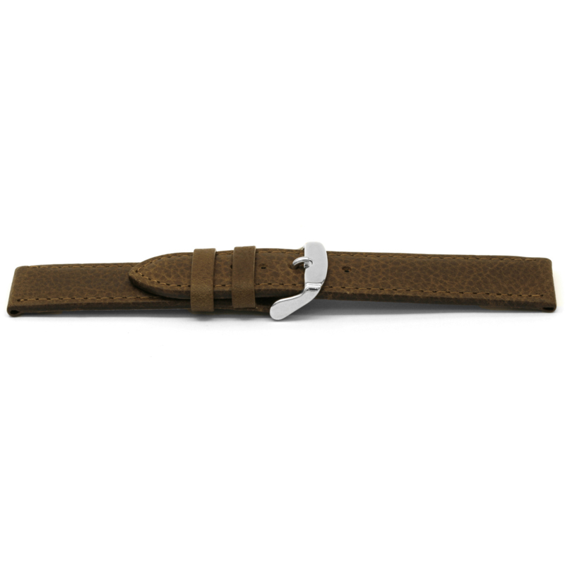 Horlogeband Universeel D329 Leder Bruin 14mm-K61