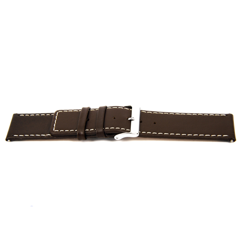 Horlogeband Universeel J310 Leder Bruin 26mm-K314