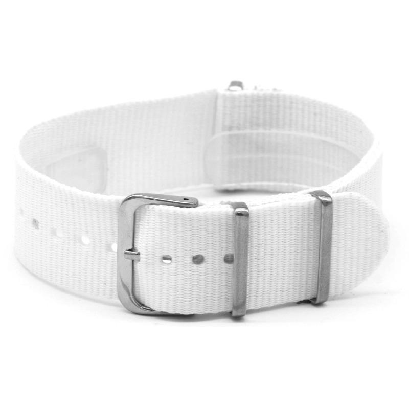 Nato horlogeband  wit  22mm  / NR. 36