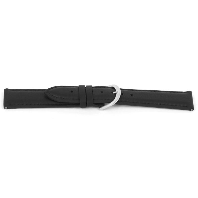 Horlogeband Universeel D144 Leder Zwart 14mm-K53