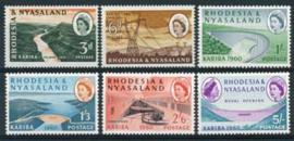 Rhodesie & Nyasaland, michel 34/39, xx