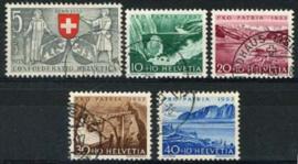 Zwitserland, michel 580/84,o