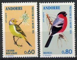 Andorra Fr., michel 261/62, xx