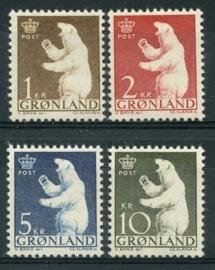 Groenland, michel 58/61 , xx