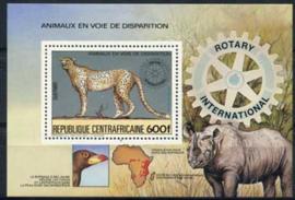 Centrafricain, michel blok 265 A, xx