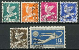 Zwitserland, michel 250/55, o