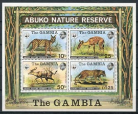Gambia, michel blok 2 , xx