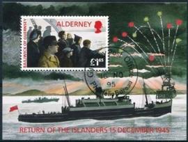 Alderney, michel blok 1 , o