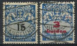 Danzig, michel p 38/39, o
