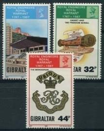Gibraltar, michel 538/40, xx