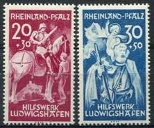 Rheinland Pfalz, michel 30/31, xx