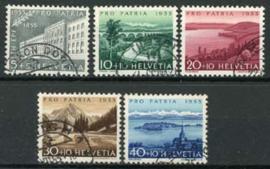 Zwitserland, michel 613/17, o