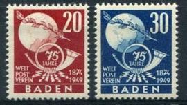 Baden, michel 56/57, x