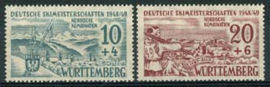 Wurttemberg , michel 38/39, x