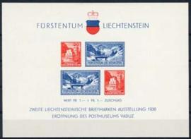 Liechtenstein, michel blok 2, x