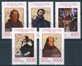 Vatikaan, michel 1051/55, xx