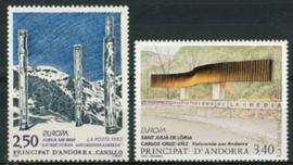 Andorra Fr., michel 451/52, xx