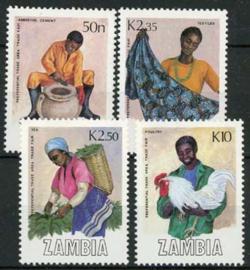 Zambia, michel 452/55, xx