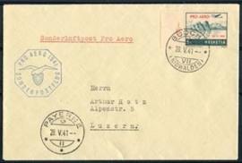 Zwitserland, michel 395 op brief ,