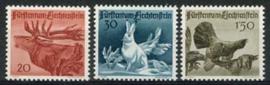 Liechtenstein, michel 249/51, xx