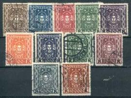 Oostenrijk, michel 398/408 A, o