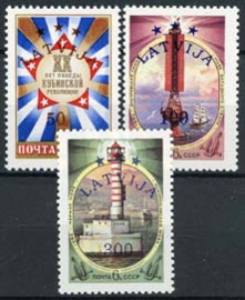 Letland, michel 348/50, xx