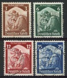 Duitse Rijk, michel 565/68, o