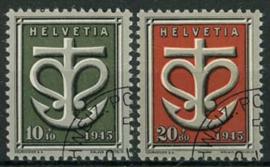 Zwitserland, michel 443/44, o