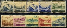 Zwitserland, michel 387/94 + 506/07,x