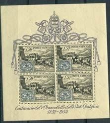 Vaticaan, michel blok 1, x